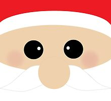 Cute Santa Clause Closeup by BeachBumFamily