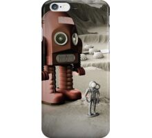 Thunder Robot and Toy Spacemen Retro Styled iPhone Case/Skin
