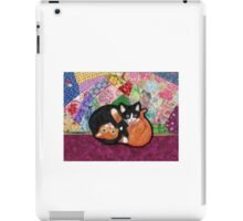 Kittens Playing On Heirloom Quilt iPad Case/Skin