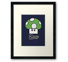 2 Up mushroom Framed Print