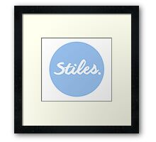 ''Stiles'' Framed Print