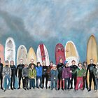 Surfer's Reunion by Liz Thoresen