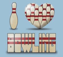 I love bowling - pins Kids Clothes
