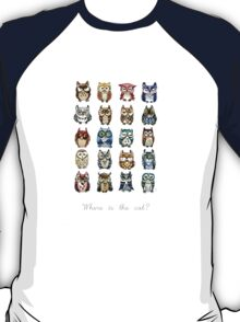 19 Owls and 1 Cat T-Shirt