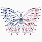 American Patriotic Dots *Butterfly Flag *T-Shirt / Throw Pillow / Tote Bag Duvet / iPad Case / Print / iPhone Case/ Samsung Cases by CroDesign