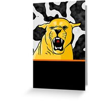 Roarrh - Mountain Lion Greeting Card