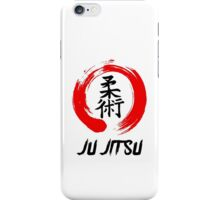 JuJitsu Kanji and red brush circle iPhone Case/Skin