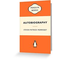 Imaginary Morrissey Autobiography Cover 2 - Penguin Classics Greeting Card