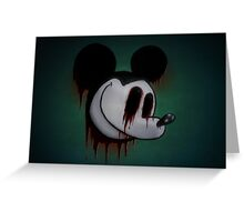 Suicide Mouse Greeting Card