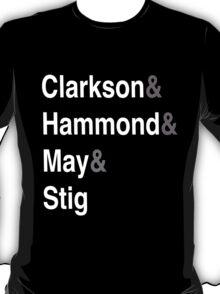 Clarkson & Hammond & May & Stig T-Shirt