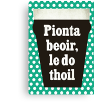 The only Irish phrase you need to know Canvas Print