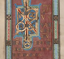 Decorated Incipit Page - Beginning of Mark's Gospel (1120 - 1140 AD) by SexyCodicology