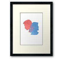 Mulder and Scully Framed Print