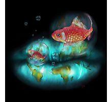 Goldfish Bubbles Photographic Print