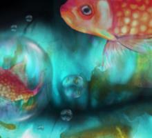Goldfish Bubbles Sticker