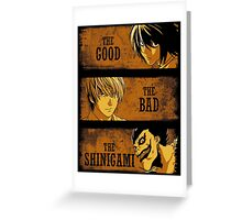 The Good, the Bad and the Shinigami Greeting Card