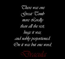 One Word Dracula by Amantine