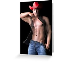 Cleft Chin Cowboy Greeting Card