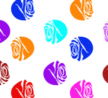 Roses In Colors Sticker