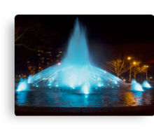 Melbourne City at night Canvas Print