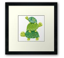 Turtle Stack Framed Print