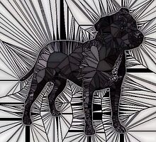 Staffordshire Bull Terrier Mosaic by HeckaDoodleDo