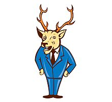 Stag Deer Hands on Hips Standing Cartoon by patrimonio