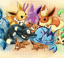 pokemon: eevee and it's evolutions  by michelledraws