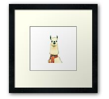 Creepy Alpaca  Framed Print