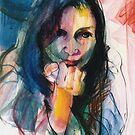 Janine in Pastel by Stephen Gorton