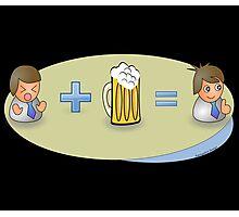 Sad + Beer = Awesome Photographic Print