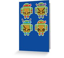 Teenage Mutant Ninja Droids Greeting Card