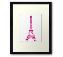 Hot Pink Eiffel Tower Framed Print