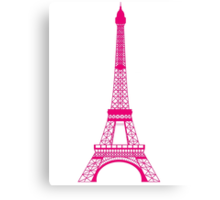 Hot Pink Eiffel Tower Canvas Print