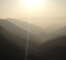 Sunset on Mountains Sticker
