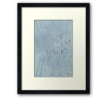 Words In Space © Vicki Ferrari Framed Print