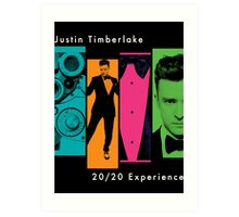 Justin Timberlake 20/20 Experience in Lighter Colors Art Print