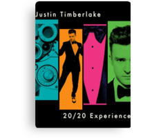 Justin Timberlake 20/20 Experience in Lighter Colors Canvas Print