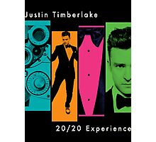 Justin Timberlake 20/20 Experience in Darker Colors Photographic Print