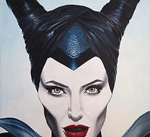 """""""Maleficent"""" acrylic painting  by Ed Urena"""