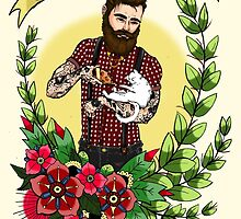 Beards, Cats, and Pizza by lizzbuma
