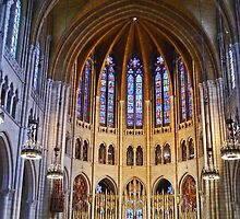 Riverside church, New York, interior by Margaret  Hyde