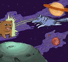 Space Wolf Runs Rampant by lizzbuma