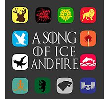 Westeros Noble Houses - A Song of Ice and Fire Photographic Print
