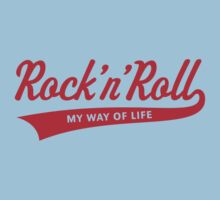 Rock 'n' Roll – My Way Of Life (Red) Kids Clothes