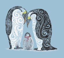 Swirly Penguin Family by CarolinaMatthes
