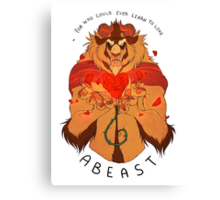 Who Can Ever Learn to Love a Beast Canvas Print