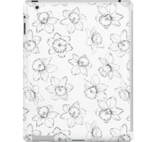 Seamless pattern with flowers narcissus. iPad Case/Skin