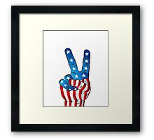 American Patriotic Victory Peace Hand Fingers Sign iPhone Case / iPad Case / T-Shirt / Samsung Galaxy Cases  / Pillow / Tote Bag / Prints / Duvet Framed Print