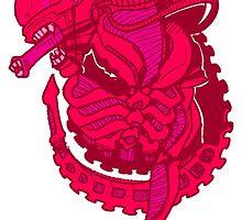 Pink Alien Xenomorph by Crescent31